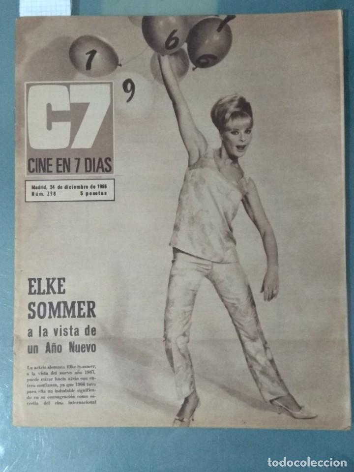 CINE EN SIETE - REVISTA Nº 298 DE 24 DE DICIEMBRE DE 1966 (Cine - Revistas - Cine en 7 dias)