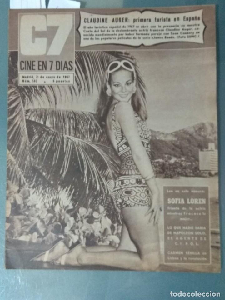 CINE EN SIETE DIAS - REVISTA Nº 302 DE 21 DE ENERO DE 1967 (Cine - Revistas - Cine en 7 dias)