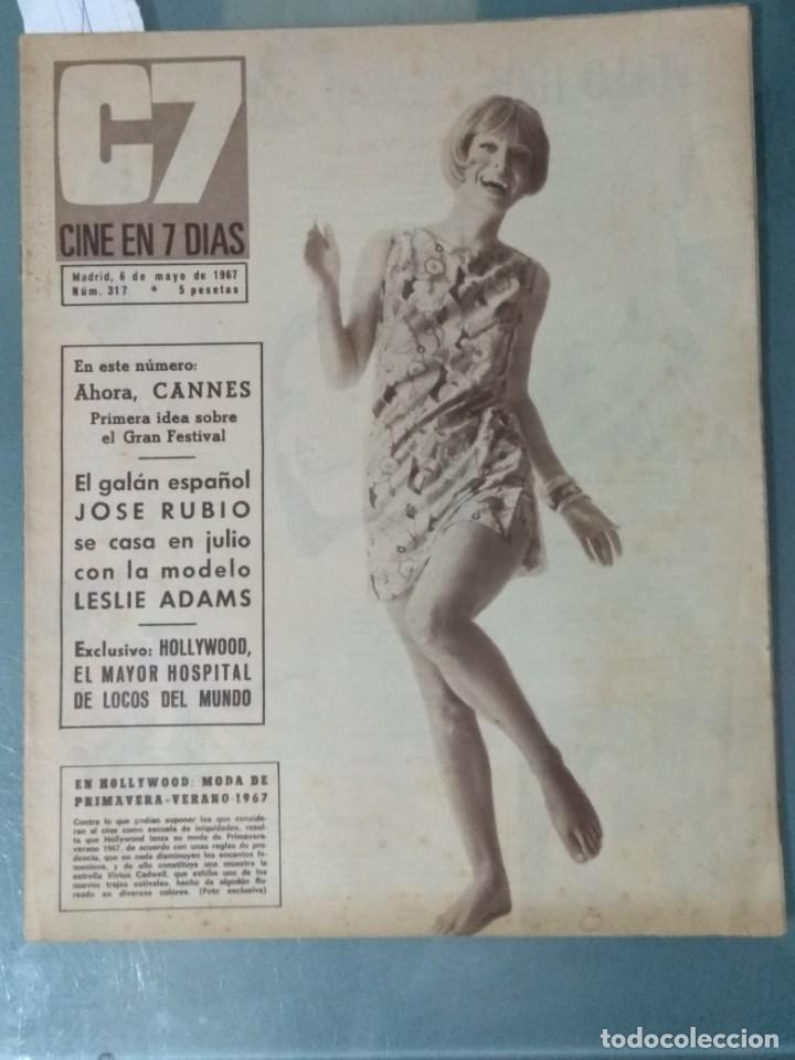 CINE EN SIETE DIAS - REVISTA Nº 317 DE 6 DE MAYO DE 1967 (Cine - Revistas - Cine en 7 dias)