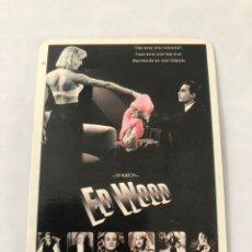 """Cinema: CALENDARIO DE BOLSILLO. CARTEL CINE """"ED WOOD"""". AÑO 1997. Lote 208080156"""