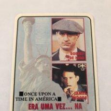 """Cinema: CALENDARIO DE BOLSILLO. REPRODUCCIÓN CINE """"ERA UNA VEZ... NA AMERICA"""" AÑO 1993. Lote 208080537"""