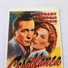 """Cinema: CALENDARIO DE BOLSILLO. REPRODUCCIÓN CARTEL CINE """"CASABLANCA"""" AÑO 1997. Lote 208081101"""