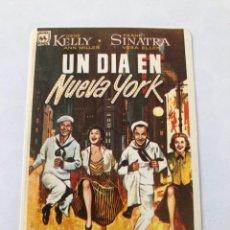 """Cinema: CALENDARIO DE BOLSILLO. REPRODUCCIÓN CARTEL """"UN DÍA EN NUEVA YORK"""" PELÍCULA. Lote 208082146"""