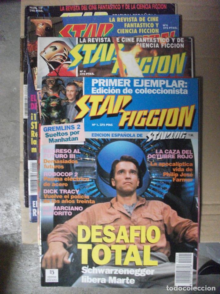 STAR FICCION, 4 REVISTAS Nº 1, 4, 5 Y 12 (Cine - Revistas - Star Ficcion)