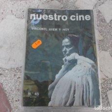 Cine: NUESTRO CINE Nº 45, 1965, LUCHINO VISCONTI, EL CINE DE WEIMAR, LA BATALLA , JEAN ROUCH. Lote 208347008