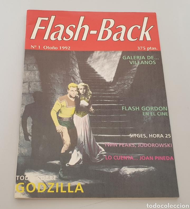 REVSITA FLASH-BACK N°1 (1992) GODZILLA, FLASH GORDON... Y MUCHO MÁS! (Cine - Revistas - Otros)