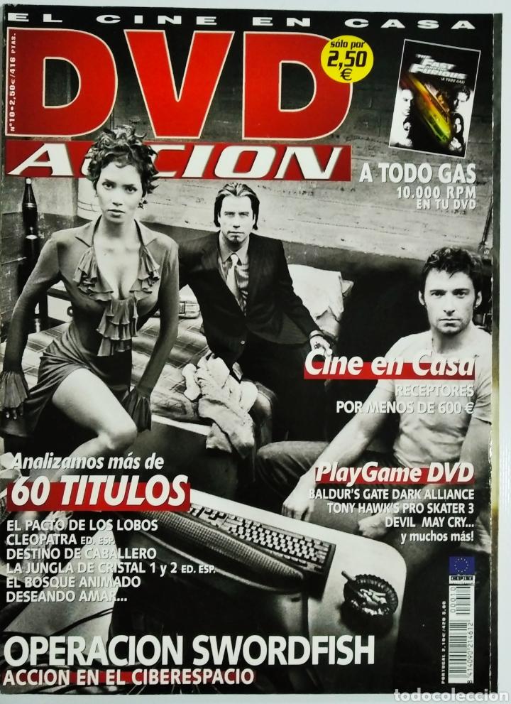DVD ACCION REVISTA CINE EN CASA N 10 FEBRERO 2002 (Cine - Revistas - Acción)
