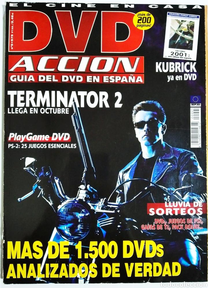 DVD ACCION GUIA DEL DVD EN ESPAÑA OCTUBRE 2001 (Cine - Revistas - Cámara)