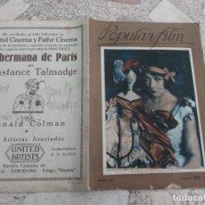 Cine: POPULAR FILM Nº 35, 1927,. Lote 209107083
