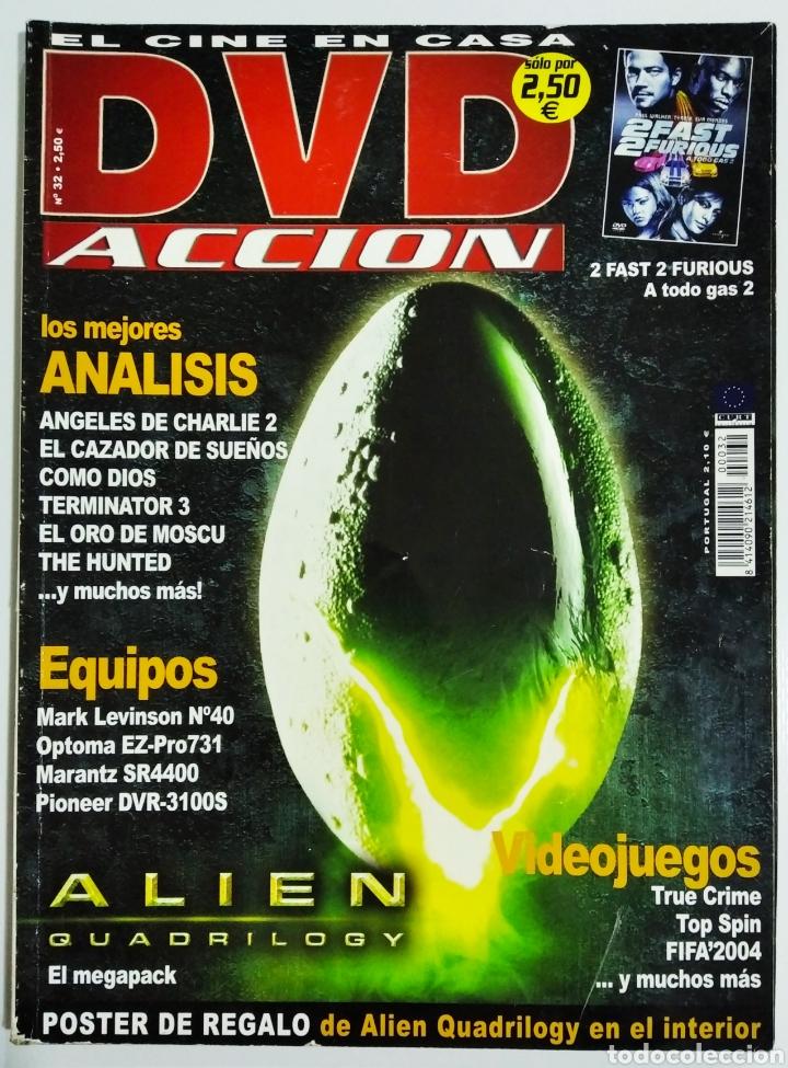 DVD ACCION REVISTA CINE EN CASA N32 AÑO 2003 (Cine - Revistas - Acción)