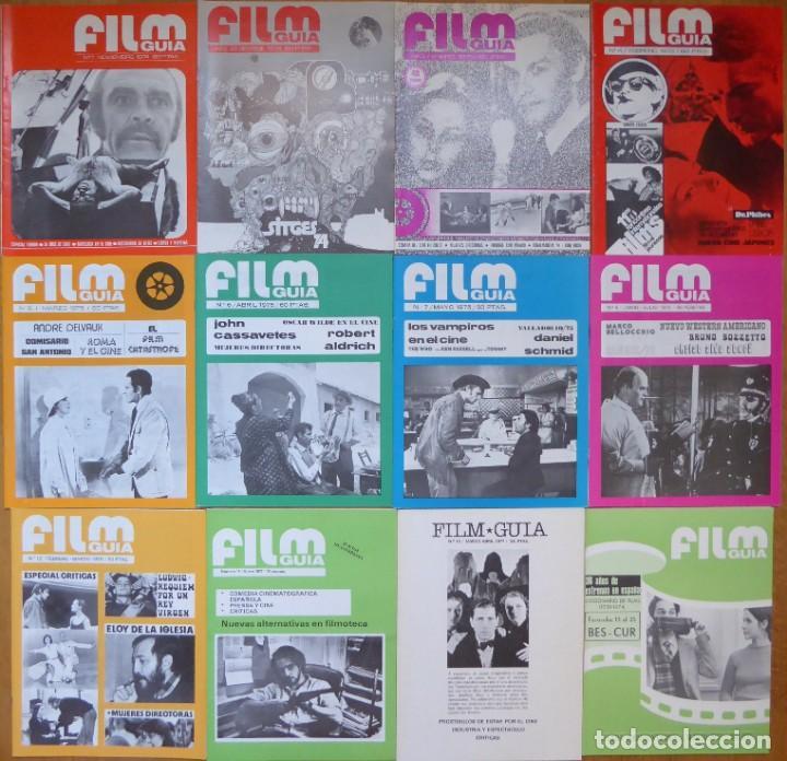 LOTE 12 REVISTAS DE CINE FILM GUÍA NÚMEROS 1 A 15+EXTRA (1974-1977) - FALTAN 4 (9,10,11 Y 13) (Cine - Revistas - Otros)