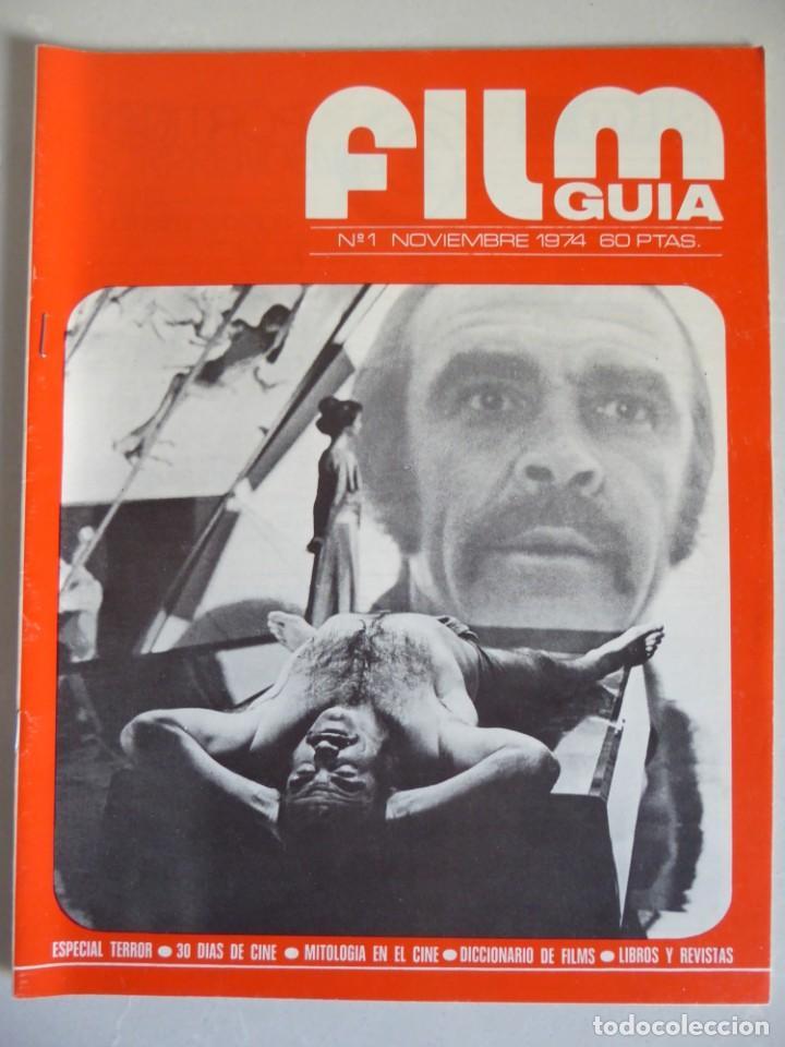 Cine: Lote 12 revistas de cine Film Guía números 1 a 15+Extra (1974-1977) - Faltan 4 (9,10,11 y 13) - Foto 2 - 209780155