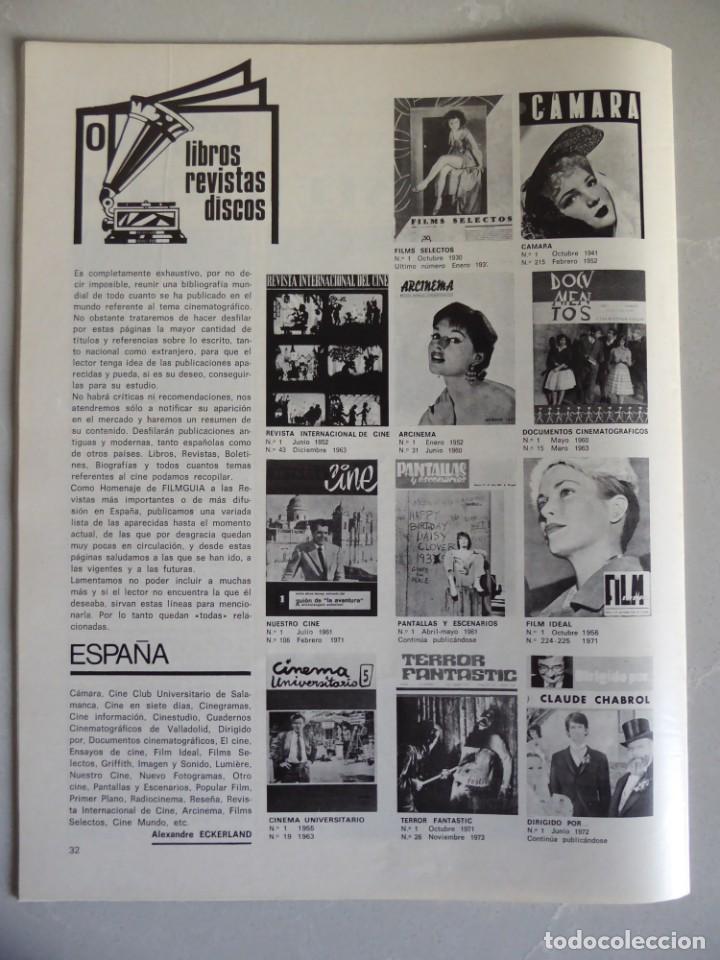 Cine: Lote 12 revistas de cine Film Guía números 1 a 15+Extra (1974-1977) - Faltan 4 (9,10,11 y 13) - Foto 8 - 209780155