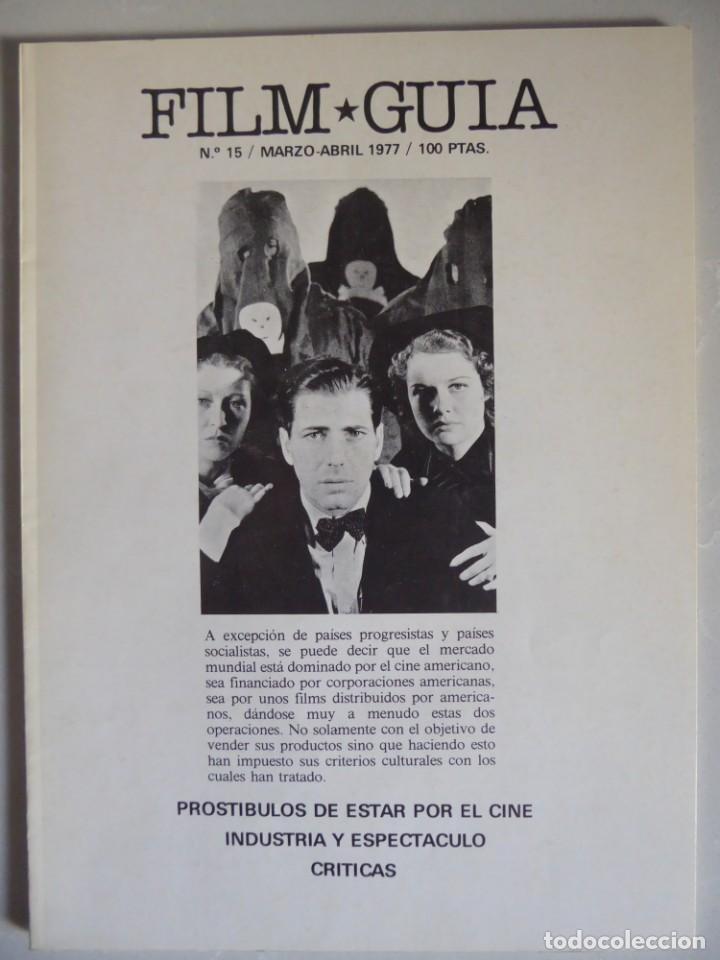 Cine: Lote 12 revistas de cine Film Guía números 1 a 15+Extra (1974-1977) - Faltan 4 (9,10,11 y 13) - Foto 46 - 209780155