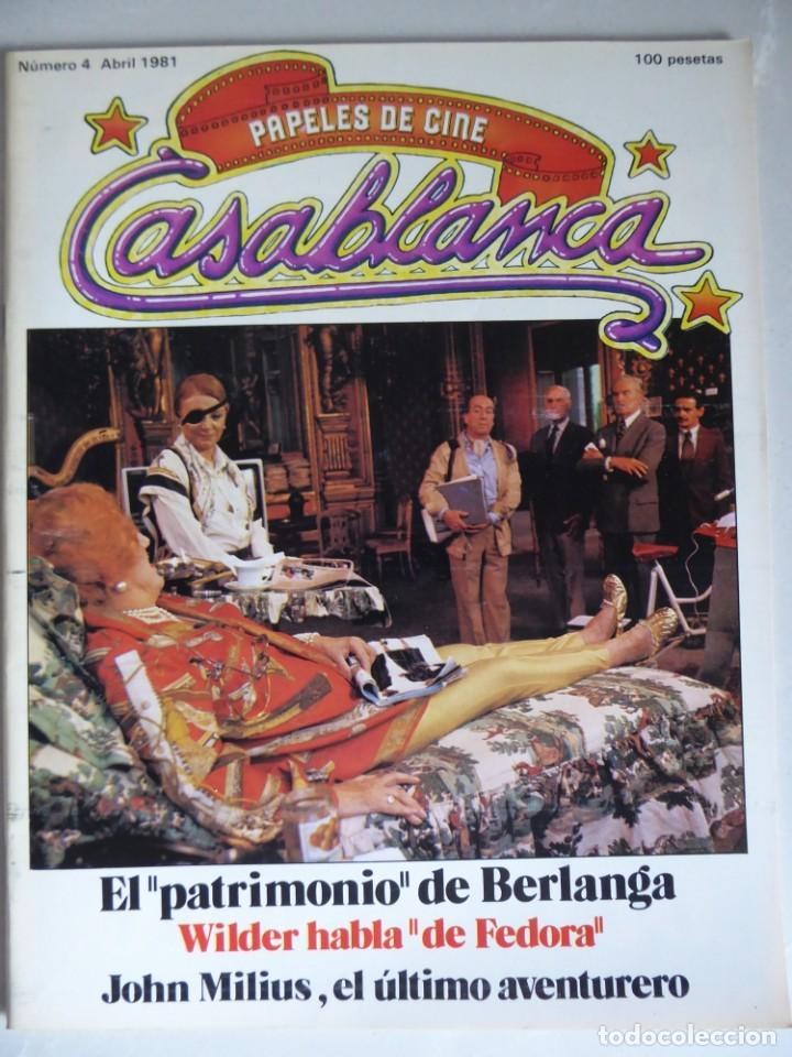 PAPELES DE CINE CASABLANCA 4 (1981) ENTREVISTAS BERLANGA, BILLY WILDER, CARLOS SAURA, JOHN MILLIUS (Cine - Revistas - Papeles de cine)