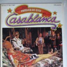 Cine: PAPELES DE CINE CASABLANCA 4 (1981) ENTREVISTAS BERLANGA, BILLY WILDER, CARLOS SAURA, JOHN MILLIUS. Lote 209850747