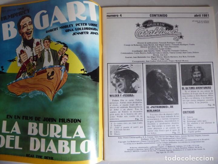 Cine: Papeles de cine Casablanca 4 (1981) Entrevistas Berlanga, Billy Wilder, Carlos Saura, John Millius - Foto 2 - 209850747