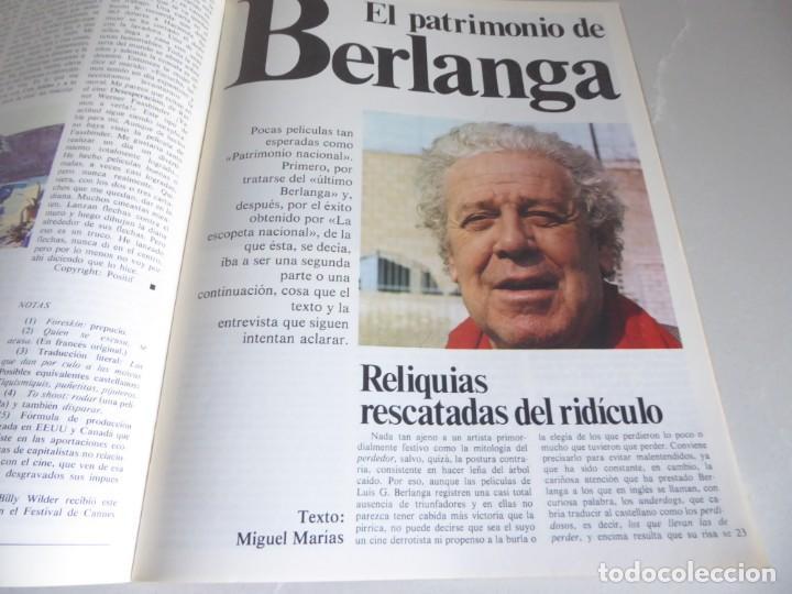 Cine: Papeles de cine Casablanca 4 (1981) Entrevistas Berlanga, Billy Wilder, Carlos Saura, John Millius - Foto 4 - 209850747