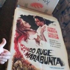 Cine: DIFÍCIL CARTEL CUANDO RUGE LA MARABUNTA 100X70. Lote 209941721