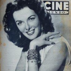 Cinema: REVISTA CINE MUNDO 1953 JANE RUSSELL MONTGOMERY CLIFT GARY COOPER MISS UNIVERSO JUANITA REINA BETTY. Lote 210145960