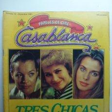 Cine: PAPELES DE CINE CASABLANCA. Nº 12. DICIEMBRE 1981. TRES CHICAS.. Lote 210338380