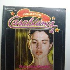 Cine: PAPELES DE CINE CASABLANCA. Nº 19-20. JULIO AGOSTO 1982.. Lote 210338490