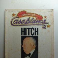 Cine: PAPELES DE CINE CASABLANCA. Nº 9. SEPTIEMBRE 1981. HITCH Y SU SOMBRA.. Lote 210338960