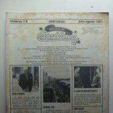 Cine: PAPELES DE CINE CASABLANCA. Nº 7-8. JULIO AGOSTO 1981.. Lote 210339188