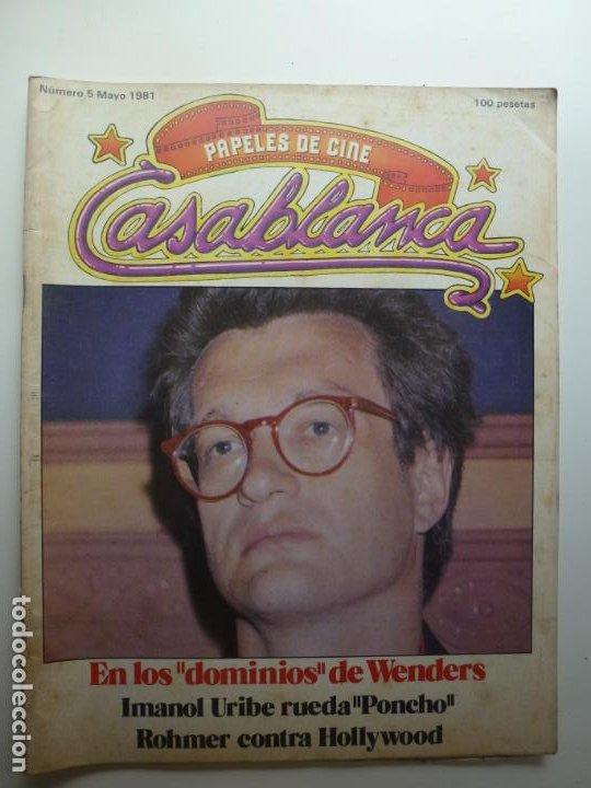 PAPELES DE CINE CASABLANCA. Nº 5. MAYO 1981. (Cine - Revistas - Papeles de cine)