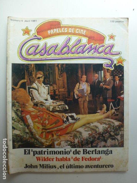 PAPELES DE CINE CASABLANCA. Nº 4. ABRIL 1981. (Cine - Revistas - Papeles de cine)