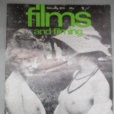 Cine: FILMS AND FILMING - 3 REVISTAS FEBRERO / MAYO Y JUNIO 1974 - INCLUYE DRACULA WARHOL. Lote 210367160