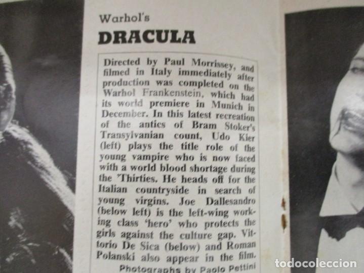 Cine: FILMS AND FILMING - 3 REVISTAS FEBRERO / MAYO Y JUNIO 1974 - INCLUYE DRACULA WARHOL - Foto 4 - 210367160