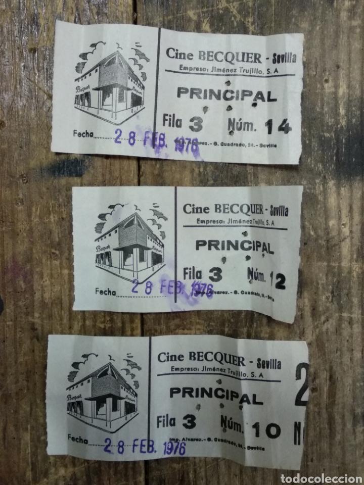 LOTE 3 ENTRADAS CINE BEQUER SEVILLA (Cine - Reproducciones de carteles, folletos...)