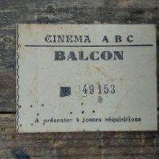 Cine: ENTRADA CINEMA ABC. Lote 210394757