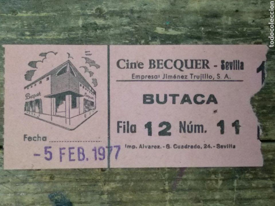 ENTRADA CINE BEQUER SEVILLA (Cine - Reproducciones de carteles, folletos...)