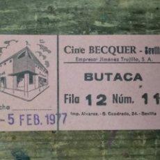 Cine: ENTRADA CINE BEQUER SEVILLA. Lote 210394862