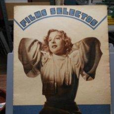 Cine: FILMS SELECTOS. Nº 256. 14/09/1935.. Lote 210415108