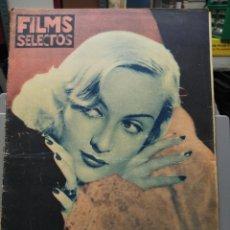 Cine: FILMS SELECTOS. Nº 286. 11/04/1936. CAROLE LOMBARD. Lote 210415928
