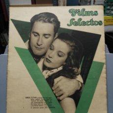 Cine: FILMS SELECTOS. Nº 285. 04/04/1936. ERROL FLYNN. Lote 210415992