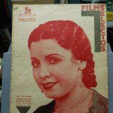 Cine: FILMS SELECTOS. Nº 283. 21/03/1936. ELISA RUIZ ROMERO EN CURRITO DE LA CRUZ. Lote 210416132
