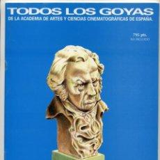Cine: LOS GOYAS 1986 - 1995. CUADERNILLO DE 32 PÁGINAS, DE 21 X 29 CMS.. Lote 210473201
