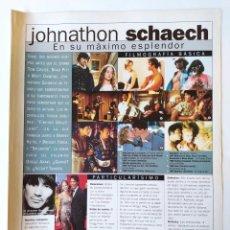 Cine: LAS ESTRELLAS DEL 2000 - FICHA Y POSTER DE JOHNATHON SCHAECH - AGUILA AMSTEL - RECORTE FOTOGRAMAS. Lote 210482327