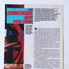 Cine: PERSEGUIDO/SCHWARZENEGGER - CHER - LOS CREYENTES - MARTIN SHEEN - RECORTE FOTOGRAMAS - 1988. Lote 210484033