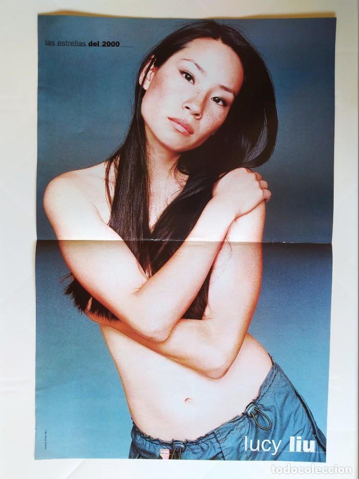 LAS ESTRELLAS DEL 2000 - FICHA Y POSTER DE LUCY LIU - AGUILA AMSTEL - RECORTE FOTOGRAMAS (Cine - Revistas - Fotogramas)