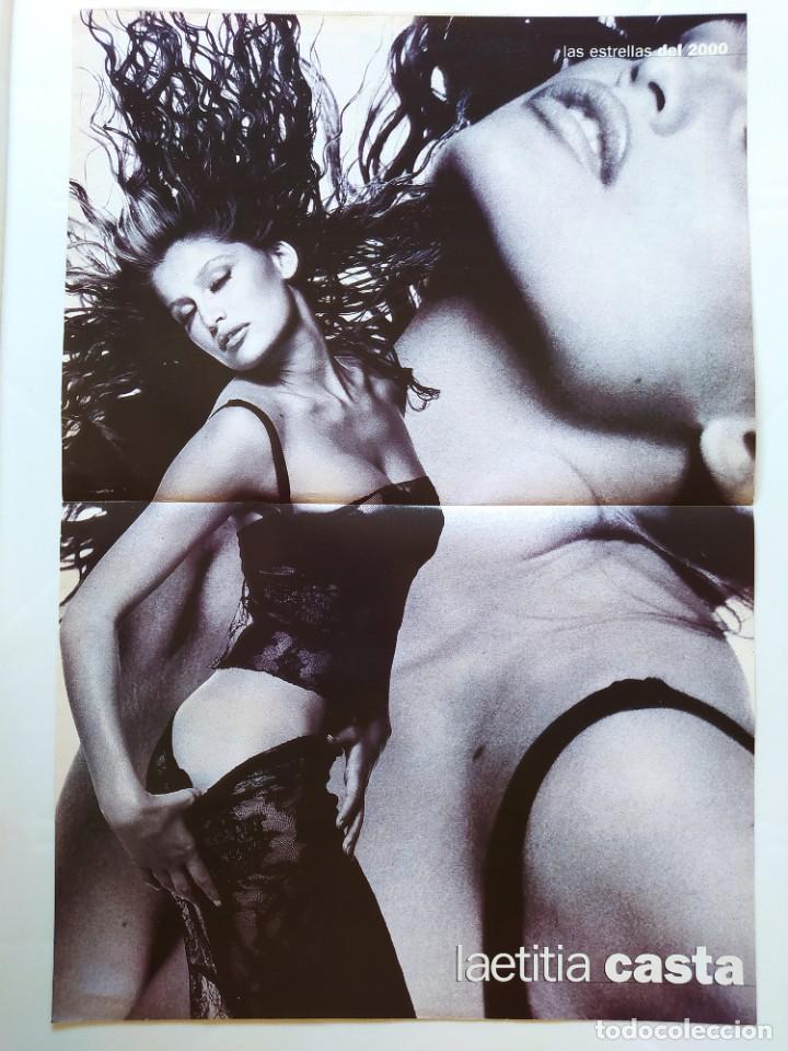 LAS ESTRELLAS DEL 2000 - FICHA Y POSTER DE LAETITIA CASTA - AGUILA AMSTEL - RECORTE FOTOGRAMAS (Cine - Revistas - Fotogramas)