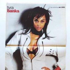 Cine: LAS ESTRELLAS DEL 2000 - FICHA Y POSTER DE TYRA BANKS - AGUILA AMSTEL - RECORTE FOTOGRAMAS. Lote 210484890