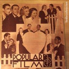 Cinéma: REVISTA POPULAR FILM AGOS 1934 GINGER ROGERS.JOAN CRAWFORD.ROBERT DONAT.RAY WALKER. Lote 210660186