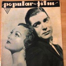Cinéma: REVISTA POPULAR FILM ENER 1933 JOAN CRAWFORD CLARK GABLE.RAQUEL MELLER.FLORELLE. Lote 210766657