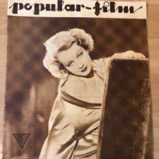 Cine: REVISTA POPULAR FILM MAR 1934 SARI MARITZA.CATALINA BARCENA.RUTH CHANNING.EDWARD G ROBINSON. Lote 210767325