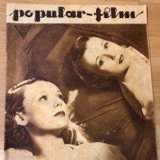 Cine: REVISTA POPULAR FILM MARZ 1934 IRENE BENTLEY.RAQUEL TORRES.DOLORES DEL RÍO.LORETTA YOUNG.CLARA BOW. Lote 210768027